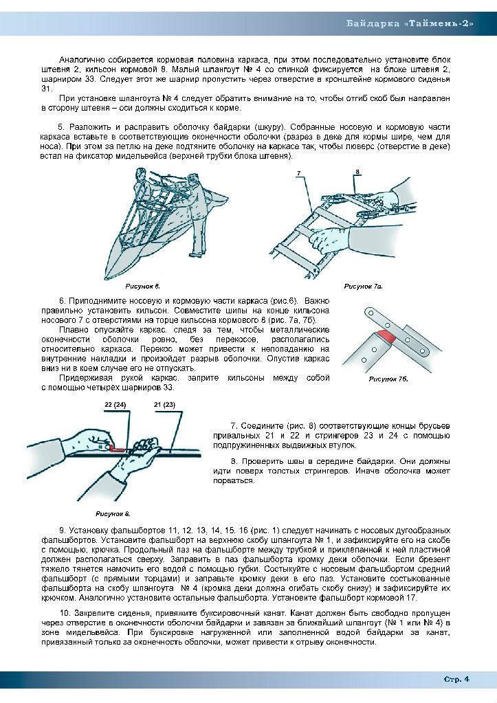 Байдарка Таймень-3 Инструкция
