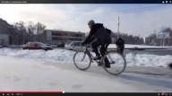 Как ездить на велосипеде зимой (видео)