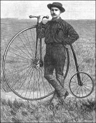 Перша навколосвітня подорож на велосипеді.