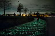 Светящаяся велодорожка