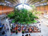 Вокзал в Мадриде превращенный в тропический сад