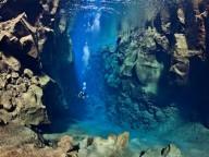 Ущелье Силфра в Исландии