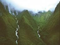 Водопад Хонокохау на Гавайях