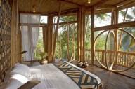 Отель из бамбука на острове Бали