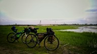 О распределение груза на велосипеде