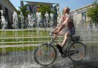 Езда на велосипеде в жару