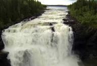 Водопад Тэннфорсен в Швеции