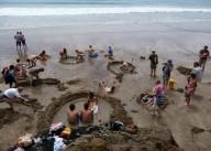 Пляж Горячих Источников в Новой Зеландии