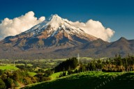 Вулкан Таранаки в Новой Зеландии