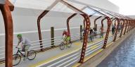 В Чикаго построят плавучие велодорожки на солнечной энергии