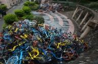 «Свалки» общественных велосипедов в Китае