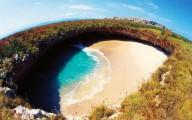 Скрытый пляж на острове Мариета