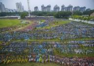 Свалка брошенных прокатных велосипедов в Китае