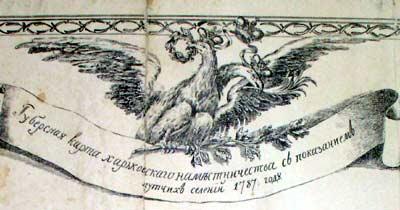 Старинная карта Харькова 1896 года с нанесенными выходами подземелий