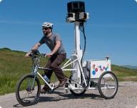 Google использует велосипед для Street View
