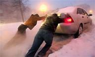 На Полтавщине - снежные заносы, авто попали в плен