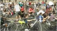 Демонстрации велосипедистов в Европе
