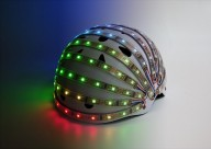 Экспериментальный велошлем на светодиодах