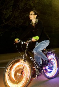 Светящиеся колеса для велосипеда