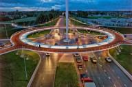 Специальный мост для велосипедистов в Нидерландах