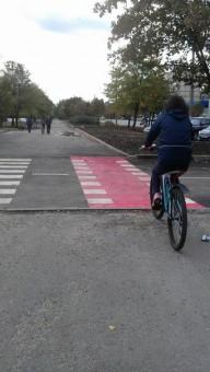 В Днепропетровске появилась велодорожка 6м длиной
