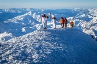 Олимпийский огонь  побывал на Эльбрусе