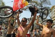 В Лиме прошла велоакция за безопасность на дорогах