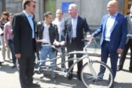 В Харькове появился велосипед для незрячих