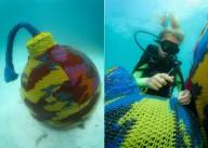 Вязанные скульптуры под водой