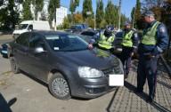 В Харькове на дороге встретились машины-«близнецы»