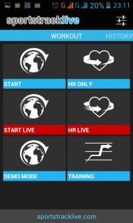 Sportstracklive - приложение закрывается.