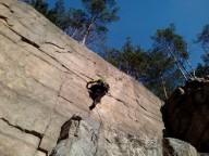 Новый  скалолазный район в Коростышевском карьере