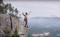Слэклайнер установил мировой рекорд без страховки