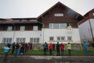 В Буштени альпинистами поднят украинский флаг