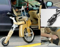 Портативный электрический велосипед
