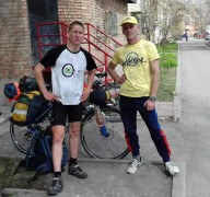 Велотурист Никита Васильев (видео)