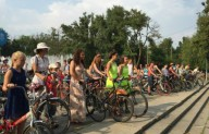 В Херсоне прошел Велопарад девушек