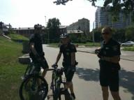 В Харькове начал работать полицейский велопатруль