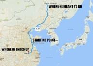 Велосипедист спешил домой и проехал 500 км не в ту сторону