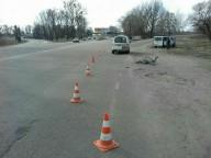 На Полтавском Шляхе иномарка сбила велосипедиста (