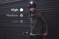 Велосипедный шлем с направленным освещением