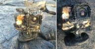 Камера GoPro уцелела в потоке лавы и засняла это на видео