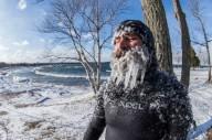 Зимний сёрфинг на озере в США