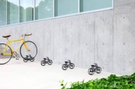 Миниатюрная велопарковка из Японии