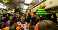 Харьковчан приглашают прокатиться на Рождественском трамвае