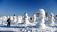 В Китае слепили 2018 снеговиков