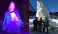 Украинцы снова победили на фестивале снежной скульптуры