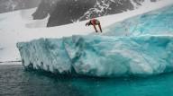 Пловец который может долго находиться в ледяной воде