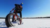 Впервые до Северного полюса добрался велосипедист