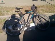В центре столкнулись Hyundai и велосипедист